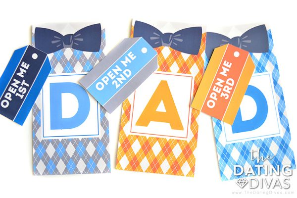 Printable Father's Day gift bags and gift tags