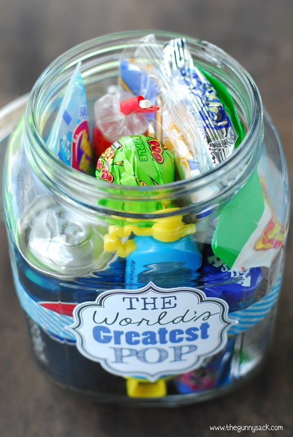 Assemble this fun 'Greatest pop' jar gift for Father's Day.