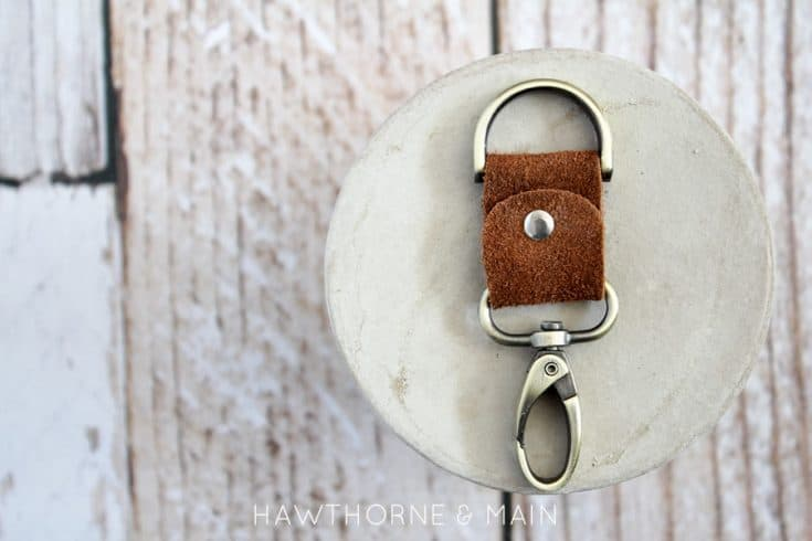 Simple DIY Leather keychain Father's Day gift