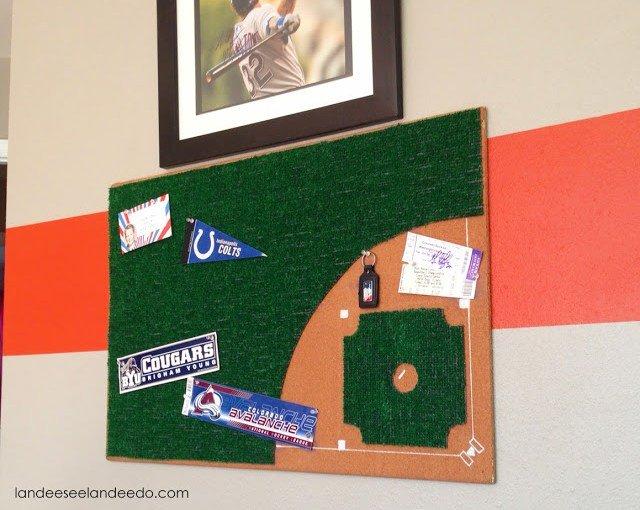 Baseball bulletin board DIY