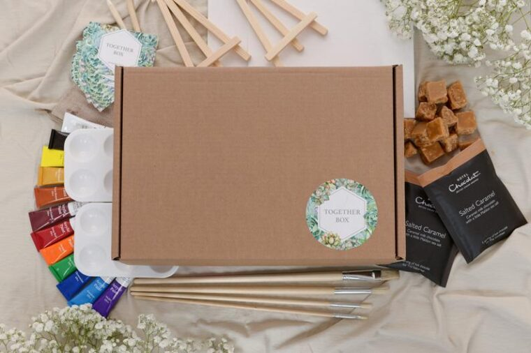 Portrait painting kit for 2 for an at home date night! Fun activities to do at home with your spouse.