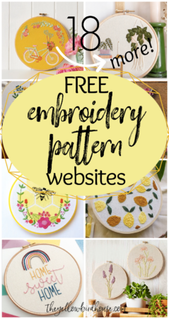 18 More Websites with Free Embroidery Patterns to download and print at home. DIY Embroidery designs PDF printables. Modern hand embroidery patterns to download for free.