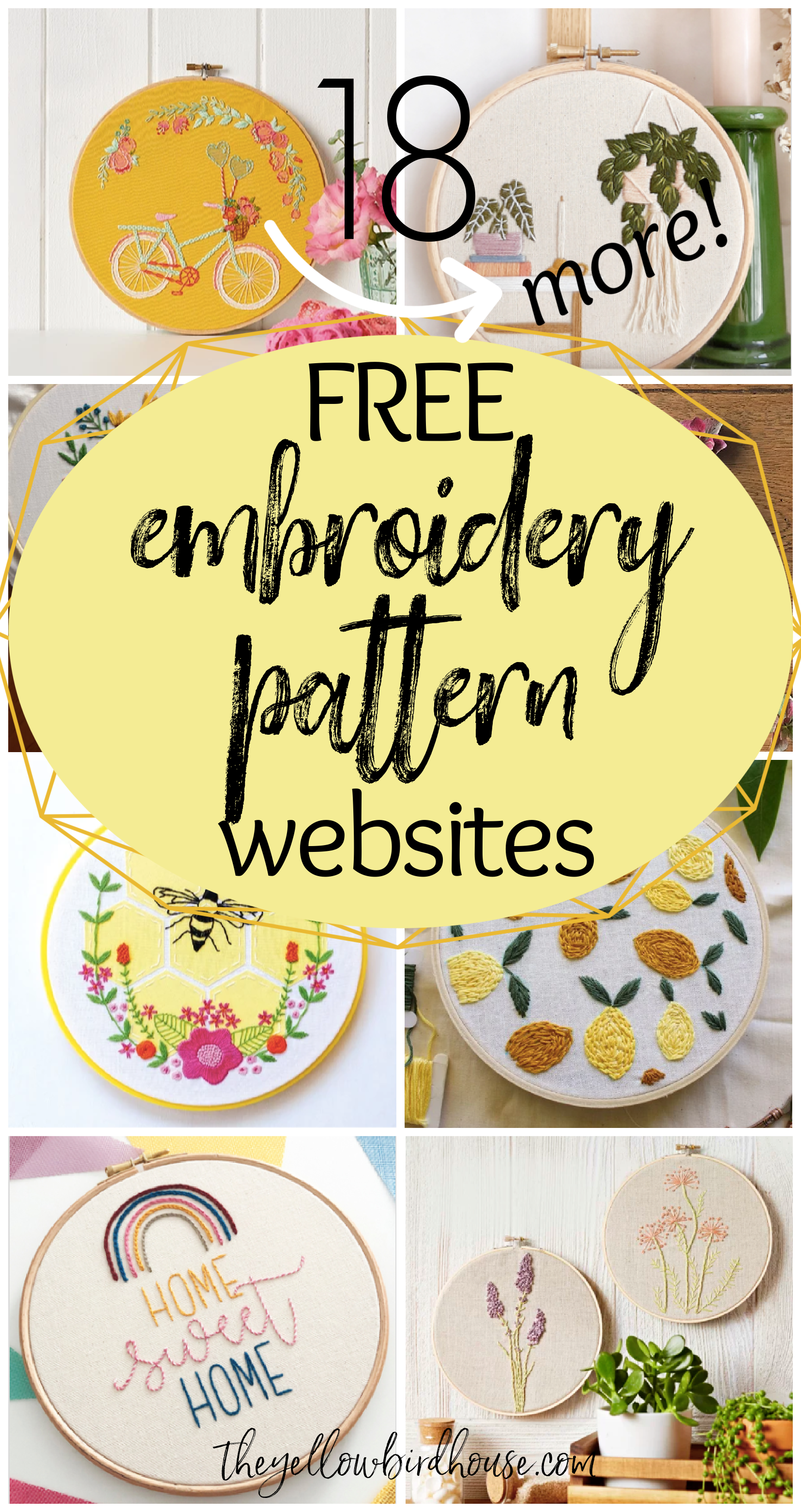 20 More Websites with Free Embroidery Patterns   The Yellow Birdhouse