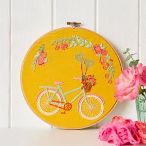 Beautiful embroidered bicycle pdf pattern free download