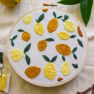 Hand embroidery pattern free lemons