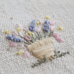 PDF pattern of little spring flowers embroidery