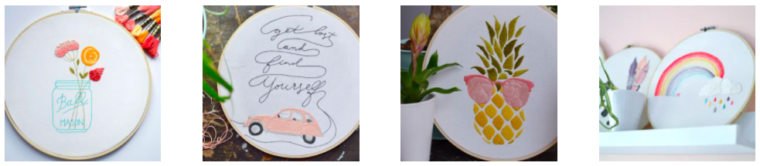 Free embroidery patterns on French Mango