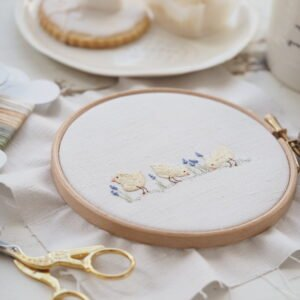 Trio of chicks embroidery pattern
