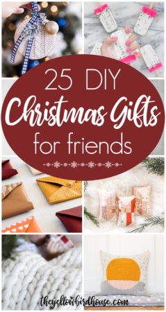 25 DIY Christmas Gifts for Friends. Make or sew one of these beautiful DIY gifts to give to friends or family this Holiday season. How to make gorgeous homemade gifts that will be cherished for years to come!